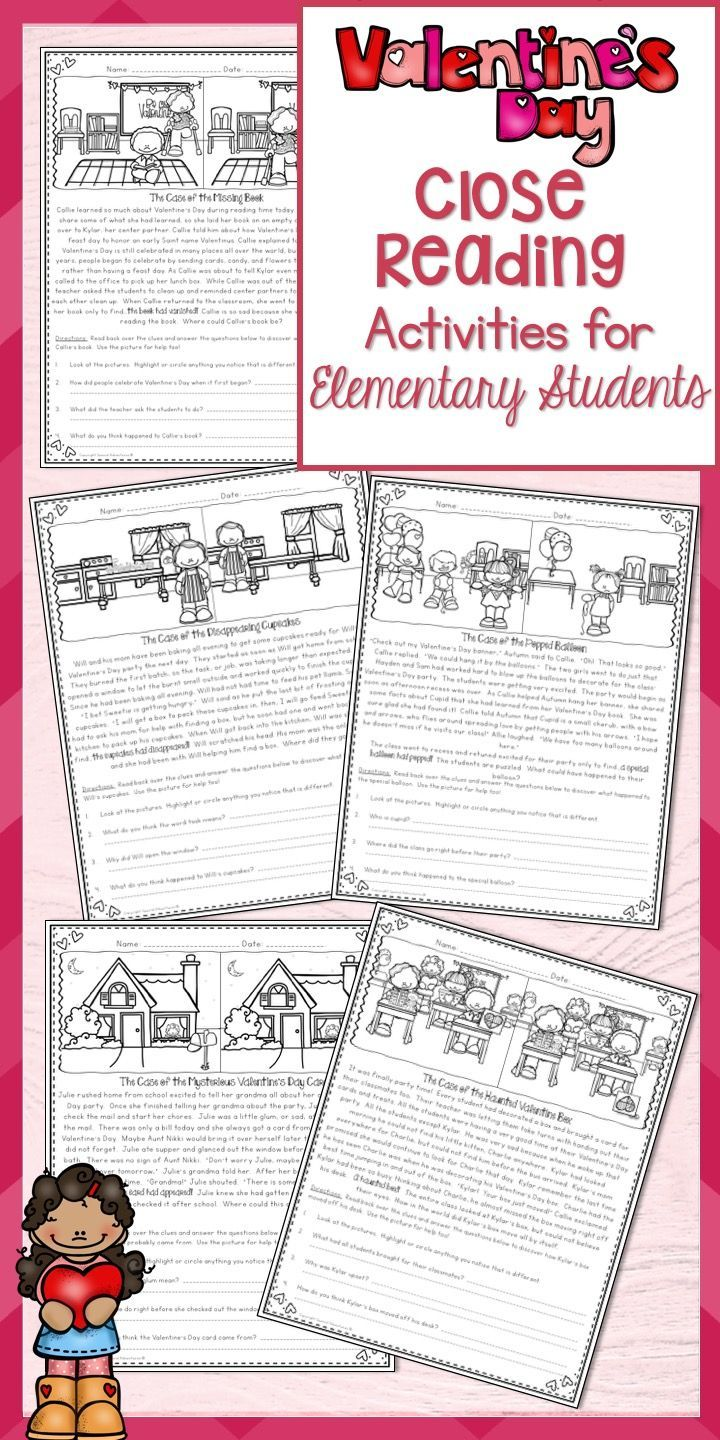 - Close Reading Passages Valentine's Day Mysteries Comprehension