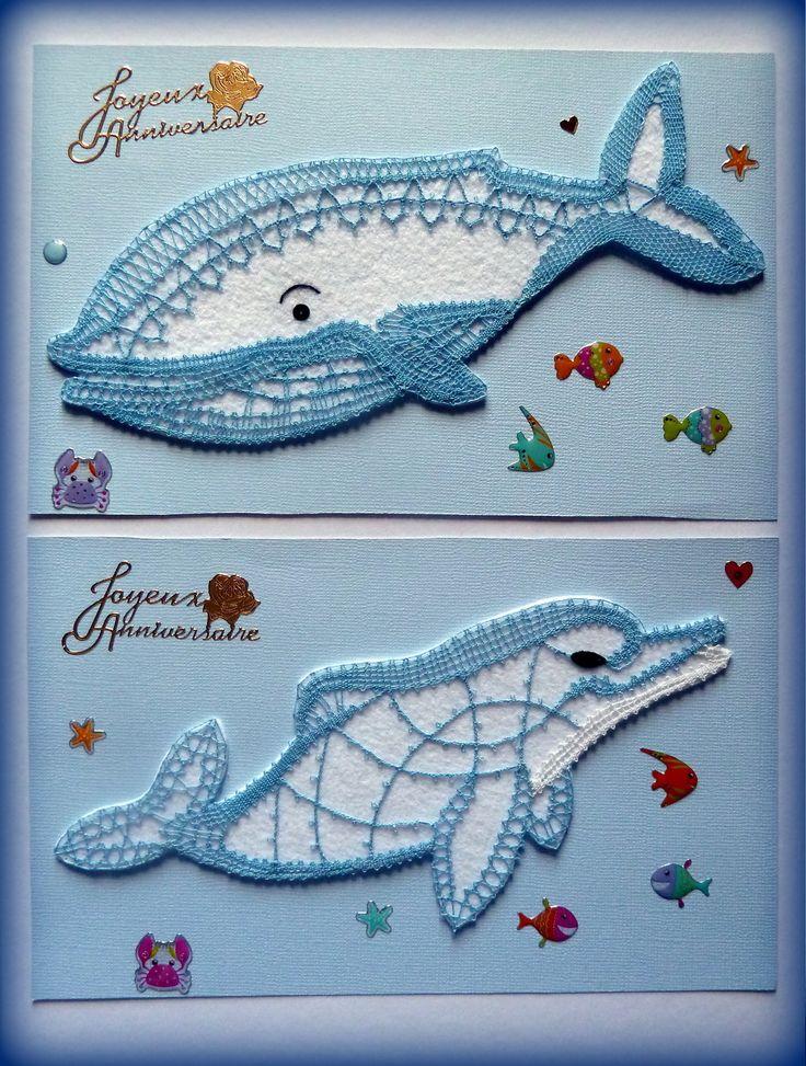 2013/13, 1.5€ et le dauphin SM3, 1.5€ Aujourd'hui Bernadette D. nous propose ces jolies cartes d'anniversaire pour ses petits-enfants. Ils ont choisi eux-mêmes les modèles de dentelle et c'est elle qui fait tout le reste ! De petits cadeaux charmants,...