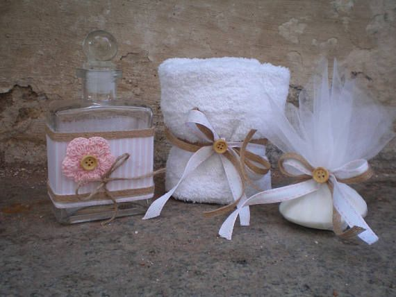 Greek baptismal set for girl Oil bottle/soap/towel-Orthodox