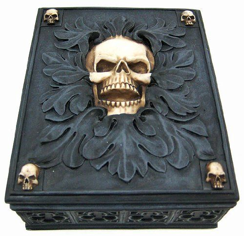 * Skull Jewelry Trinket Box Valet *