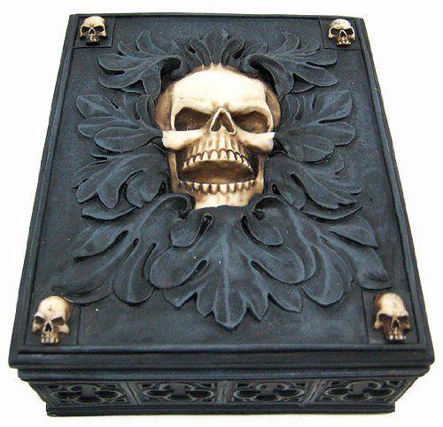 * Skull Jewelry Trinket Box Valet *