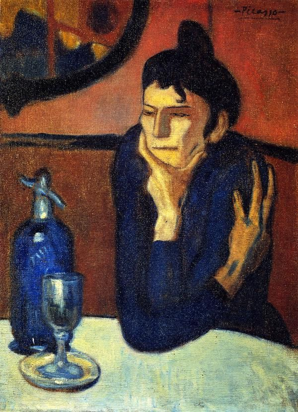 Pablo Picasso – 1901,The Absinthe Drinker.