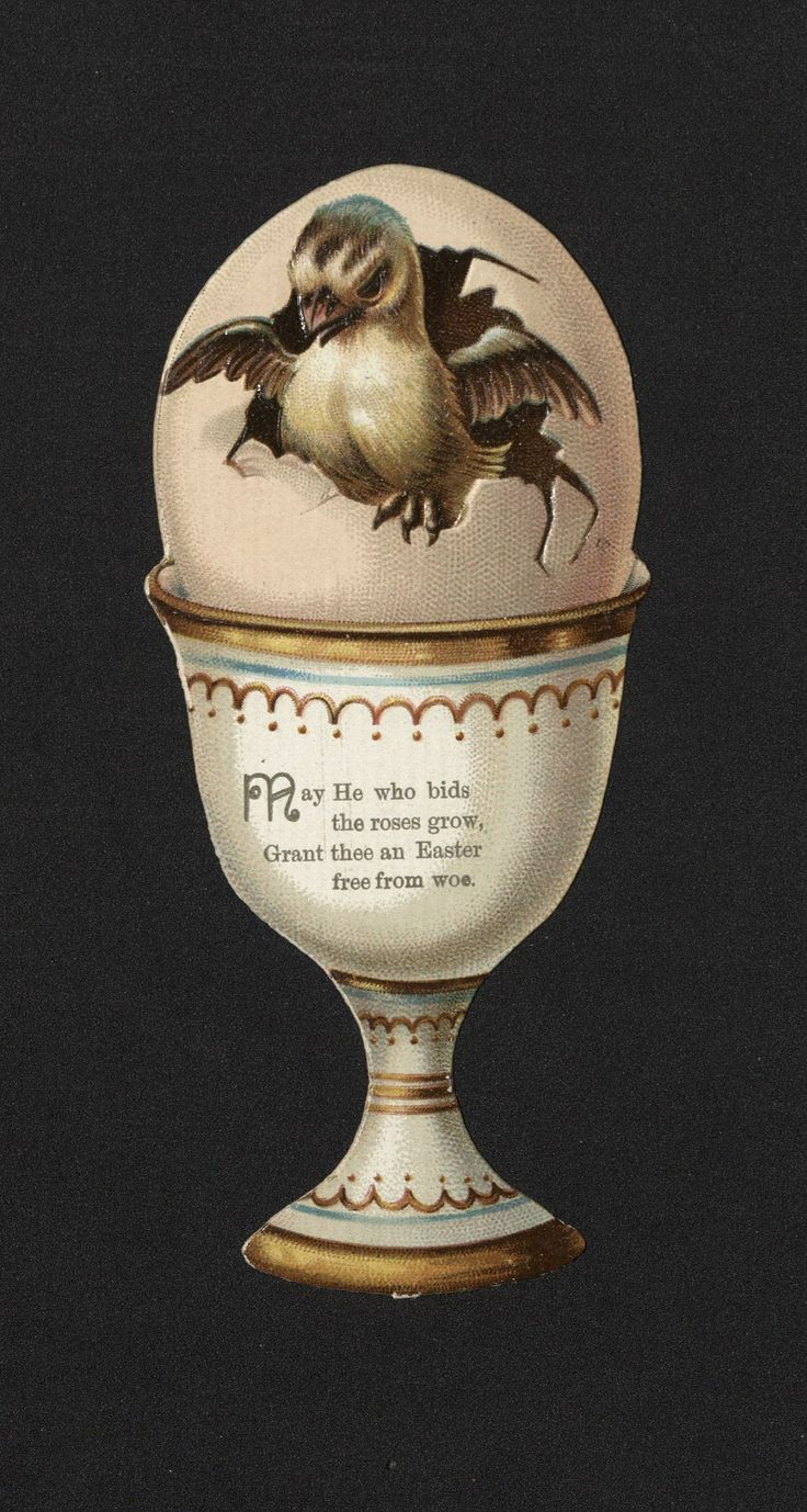 'Oh! Forget not Easter-tide...' Easter Card. 19th century