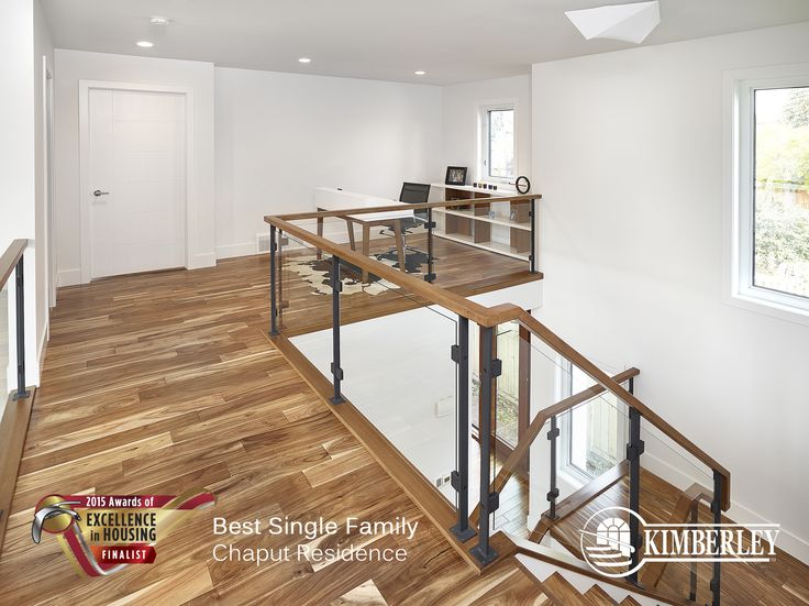 Chaput Residence in Crestwood. Kimberley CustomBuilt Awards of Excellence Finalist 2015 http://buildwithkimberley.ca/homes/full-infills-and-acreages/ #buildwithkimberley #kimberleyhomesYEG #hardwoodfloors #moderndecor #awardsofexcellence