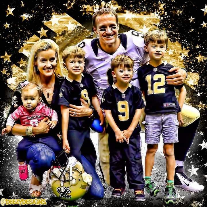 Saints Drew Brees & his beautiful Family. #WhoDat #WhoDatNation #Saints…