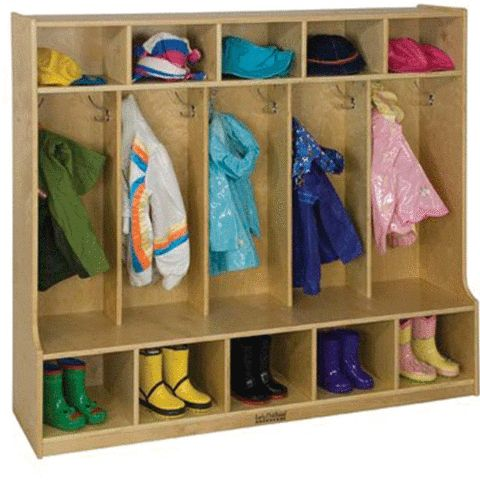 5 Section Coat Locker with Bench at Tomorrows Classroom