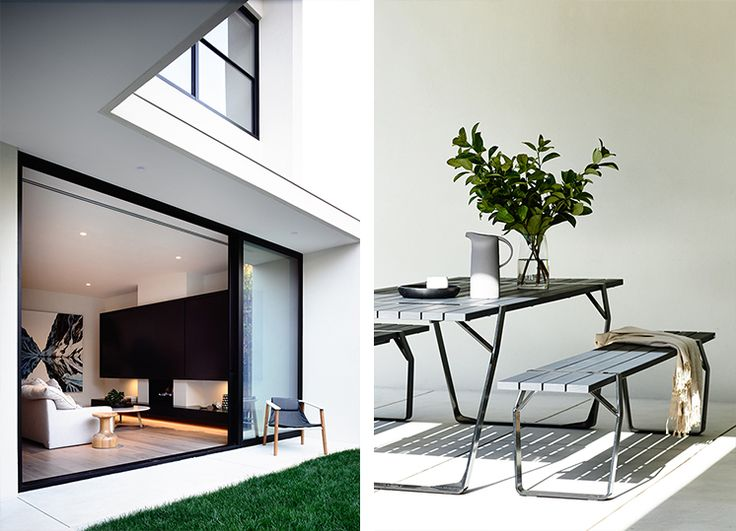 House Like Ours · Outdoor TablesOutdoor PatiosOutdoor SpacesOutdoor LivingIndoor  OutdoorOutdoor FurnitureExteriorMagazineModern Fireplaces