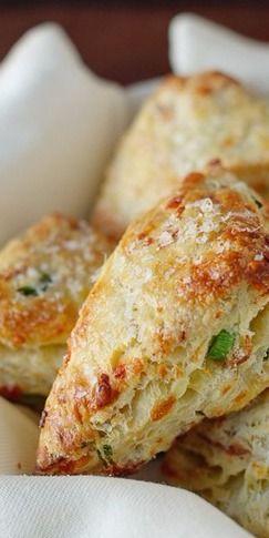 Savory Scones with Gruyere, Prosciutto and Green Onion | Kitchen Confidante