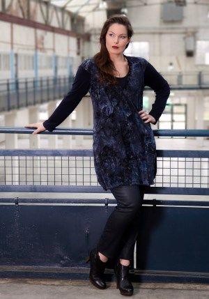 exelle, tunic with velvet print