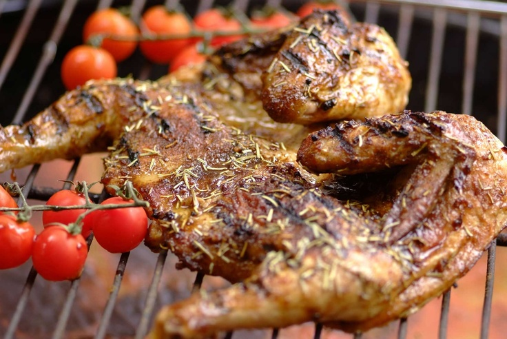 Barbecue and Rosemary spice grilled chicken