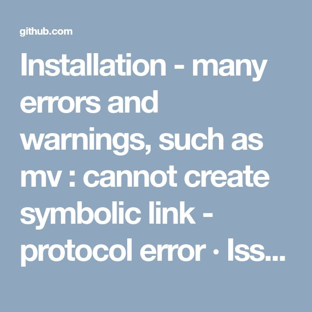 Installation - many errors and warnings, such as mv : cannot create symbolic link - protocol error · Issue #996 · Varying-Vagrant-Vagrants/VVV