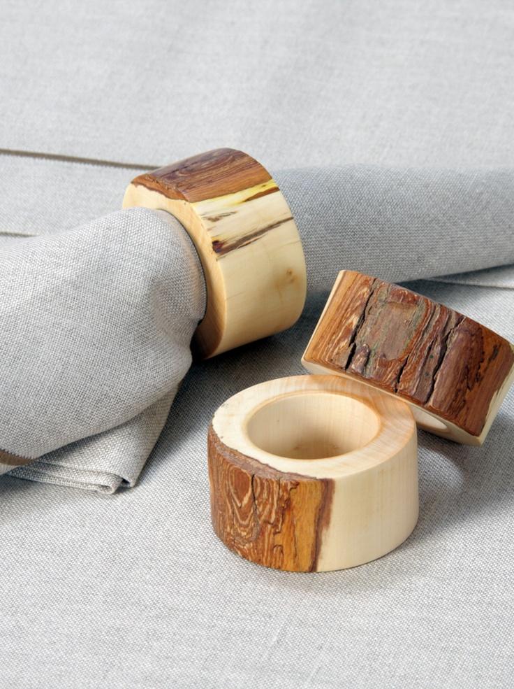 wooden napkin rings