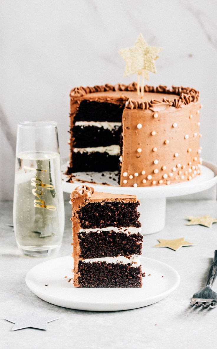 Chocolate Champagne Layer Cake — The Whole Bite