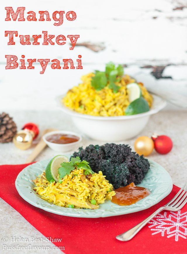 An easy recipe for a one pot Turkey curry.  This biryani is ideal for using up the leftovers from your Thanksgiving or Christmas turkey!