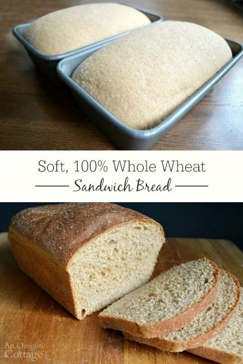 Easy, Soft 100% Whole Wheat Sandwich Bread - the bread that will finally free you from store-bought bread!