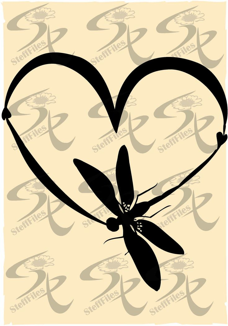 Download Vector DRAGONFLY HEART,Love,clipart,valentines,SVG,dxf,ai ...