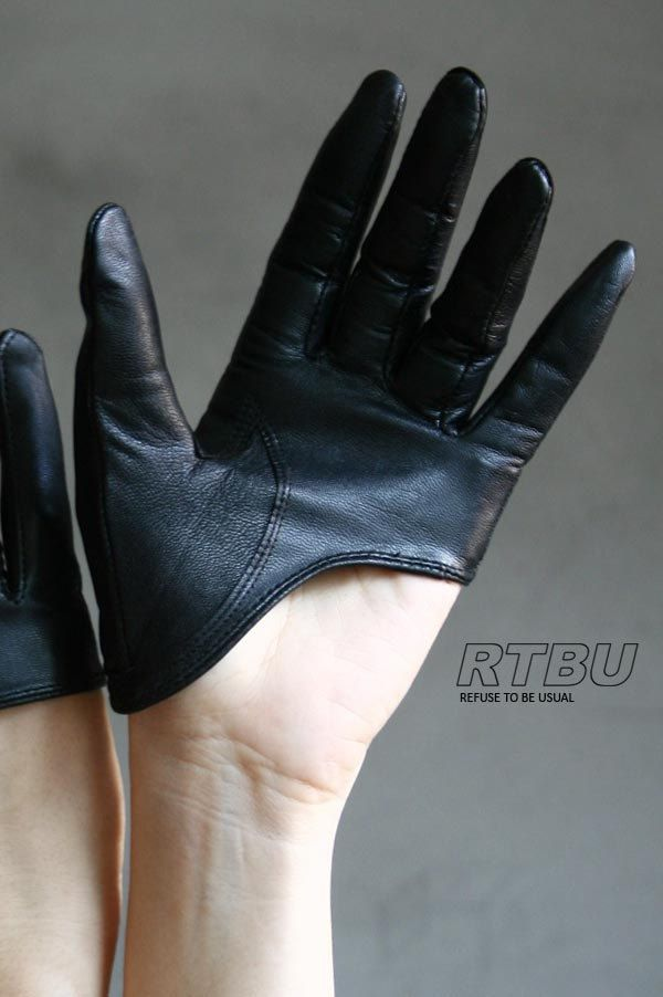 Genuine Lambskin Leather Fashion Runway Model Cut Away Punk Rocker Biker Glove FREE SHIPPING. $21.99, via Etsy.