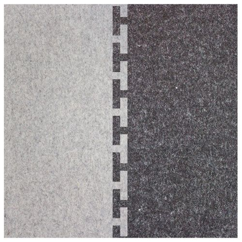 The Connect Rug combines the natural beauty of Industrial Felt and Designer Felt that interconnects to become one large rug. Use separately or together to fit your style and space. The Connect Rug measures approximately 4 feet x 4 feet x 1/8 inch thick (122cm x 122cm x 3mm). We recommend using an anti-slip mat or pad below to secure this rug.