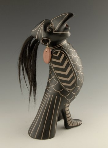 Virgil Ortiz  POTTERY - raven man.
