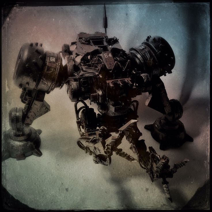 ArtStation - Rock Crusher, Blood Fuel Custom Mech Kit-bash, Custom Toy, Articulated Sculpture, Hand painted and weathered, Created and Designed by Caleb Prochnow, concept design, visual development