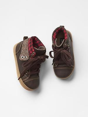GAP Toddler Boy NWT Size 8 US / 25 EUR Brown Hi-Top Sneakers Shoes Boots