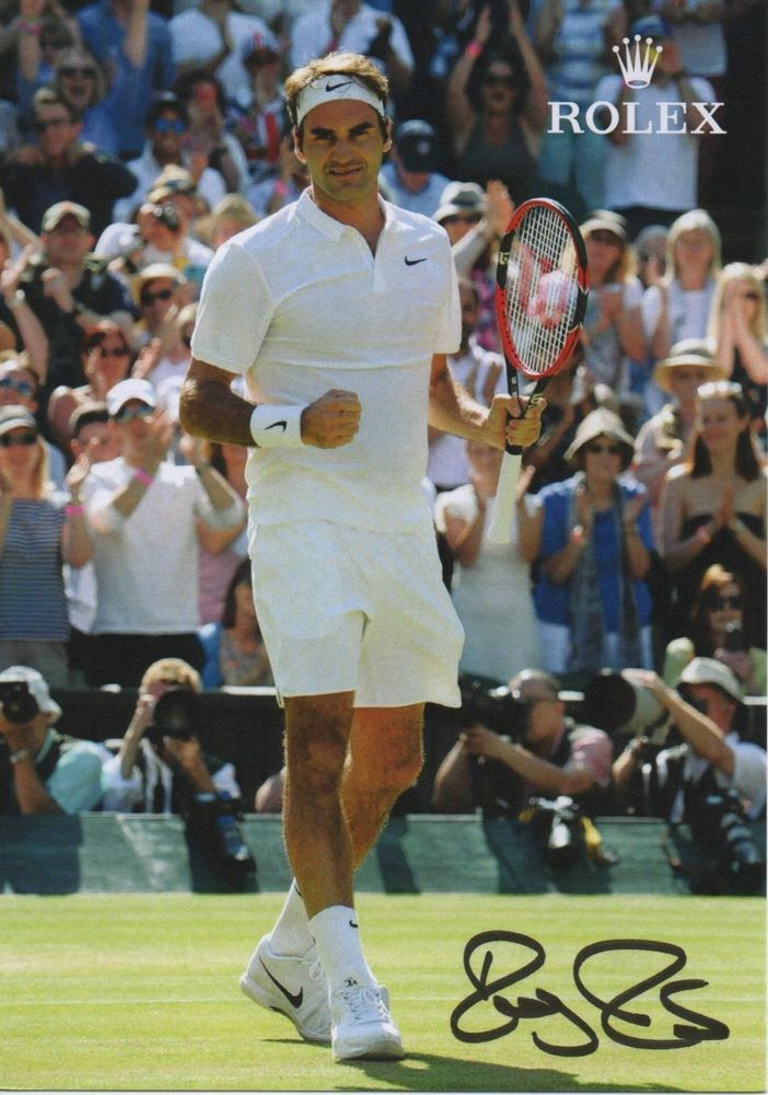 ROGER FEDERER Autographed Hand Signed Authentic TENNIS Photo Photograph COA