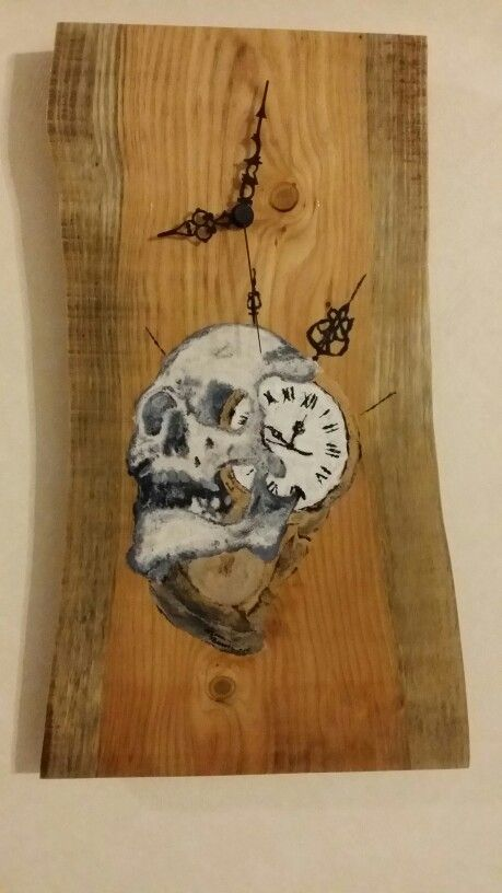 Well then now is the skull clock ready to watch is hand-painted