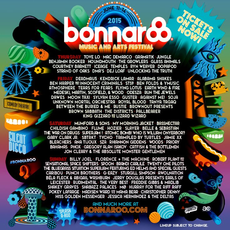 Choose your own adventure with our Bonnaroo by-day lineup!