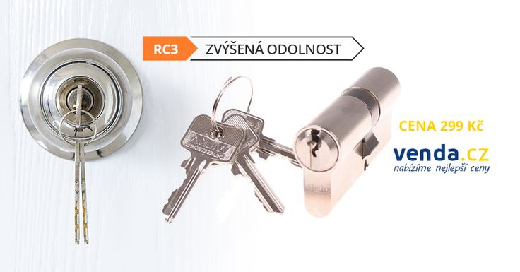 Bezpečnostní #vložka RC 3. 3 klíče. Vhodná prointeriérové a vstupní #dveře za 299 Kč. https://cs.venda.cz/bezpecnostni-vlozka-act-wilka-rc-3-30-35/#product-detail-main