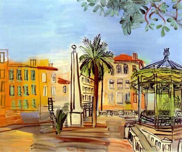 """la place d'hyeres"" (The Square in Hyeres) - Raoul Dufy  .......#GT"