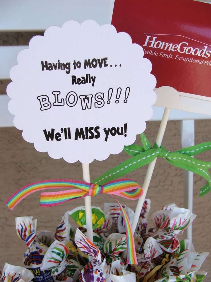 Marci Coombs: Going Away Gift idea.