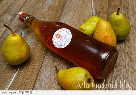NALEWKA GRUSZKOWA Składniki 1 kg gruszek 1 szklanka cu… na Stylowi.pl