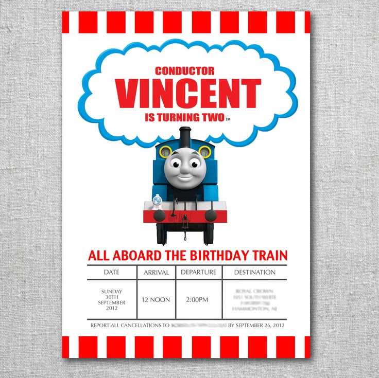 34 best Thomas invitations images on Pinterest Birthday - birthday party guest list