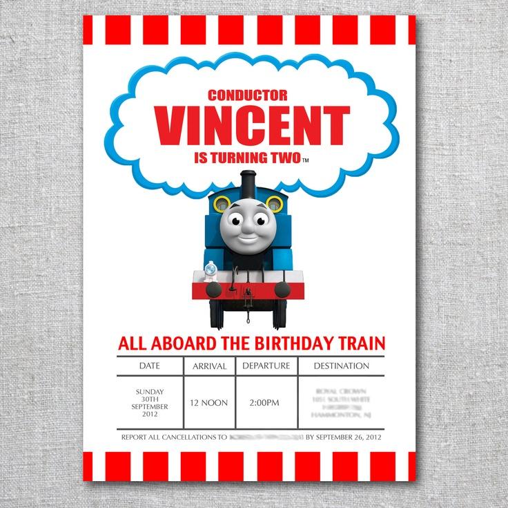 34 best Thomas invitations images on Pinterest | Birthday ...