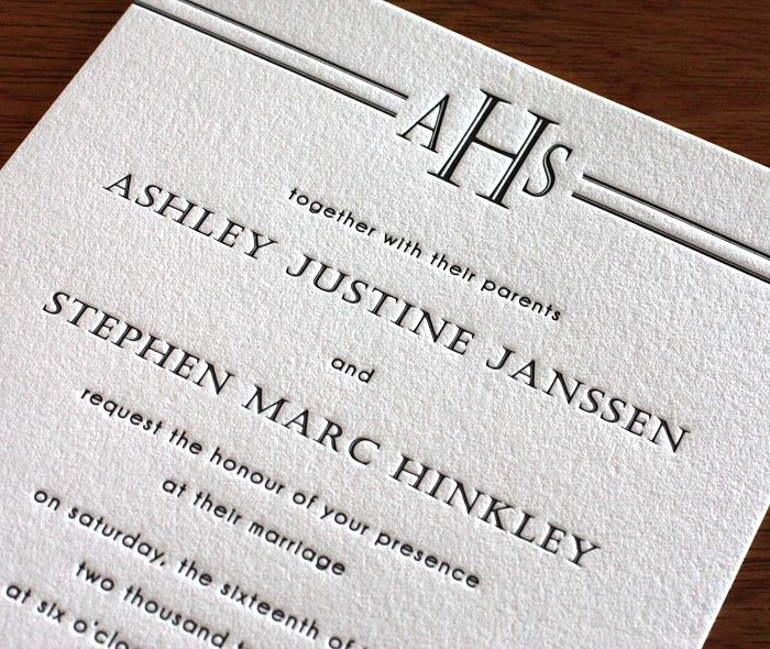 Intimate Wedding Invitation Wording: Customized Monograms For An Intimate Wedding