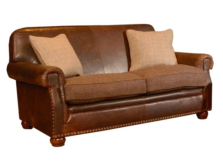 Stornoway Tetrad Sofa With Herringbone Harris Tweed