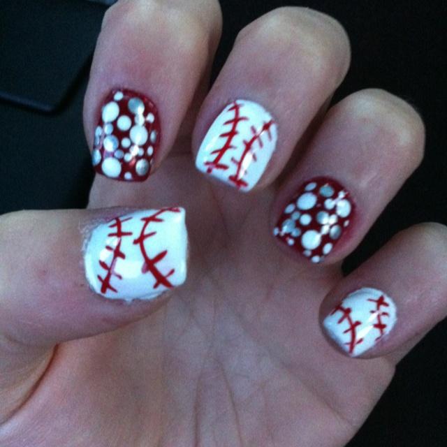 STL cardinal nails!!