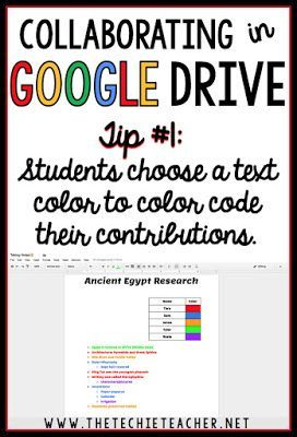 5 ways to avoid disasters when students are collaborating in Google Drive. Tip #1: Have students choose a color font to color code their contributions to the assignment. - Com links para 93 ferramentas este E-Book gratuito em http://www.estrategiadigital.pt/e-book-producao-de-conteudos/ vai ajudá-lo na produção de conteúdos relevantes para envolver os fãs do seu negócio, marca e/ou empresa online.