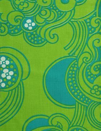 Textiles & Patterns | Green Wallpaper | Hippie Background | Vintage Floral | Graphic Design | Illustration by Raili Konttinen