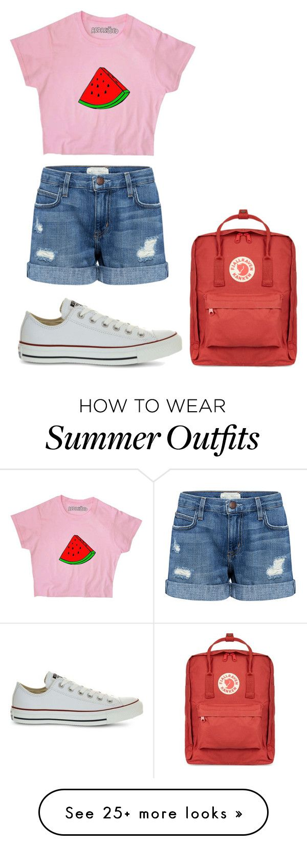"""""""Outfit"""" by thebandgirl on Polyvore featuring Current/Elliott, Converse and Fjällräven"""