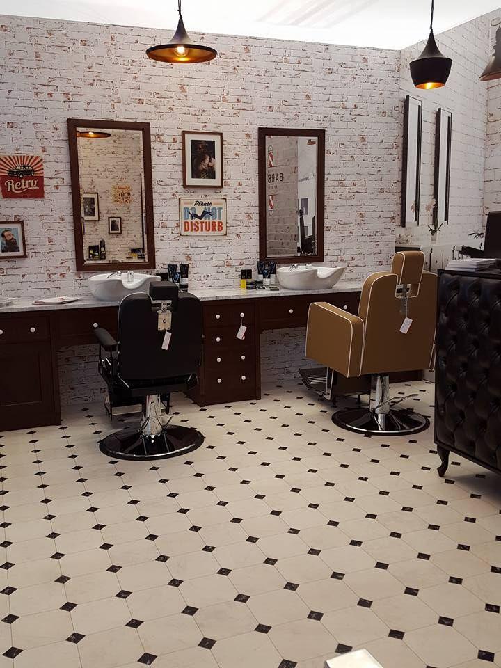 Ayala furniture stand at LOOK  2016 fair in Poznań- Poland. #Salonideas #Salondesign #Barbershop #Barberchairs