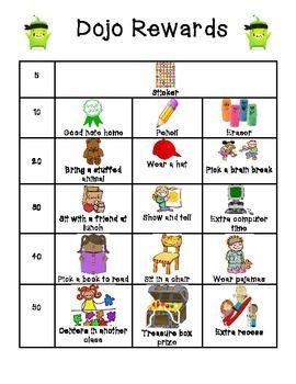 CLASS DOJO REWARDS - TeachersPayTeachers.com