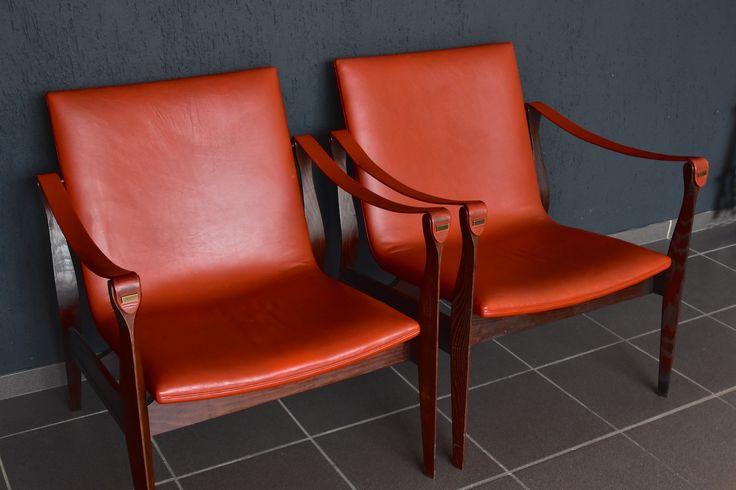 Karen & Ebbe Clemmensen Safari Chair Fritz Hansen Made in Denmark model 3405