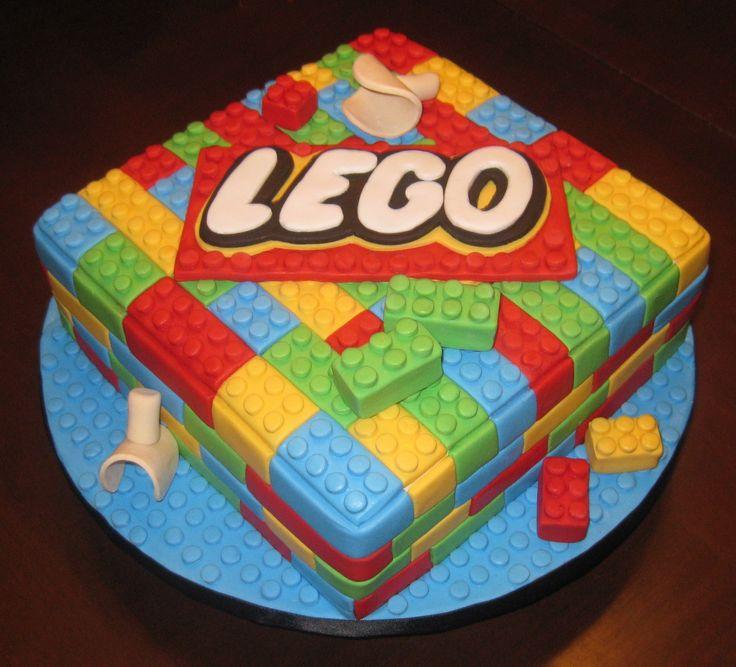 Lego Cake Buttercream With Fondant Border