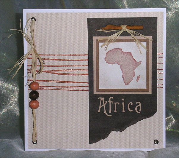 191 African themed card handmade Africa  party