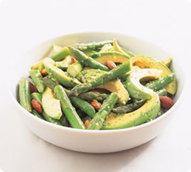 Asparagus, Avocado & Almonds with Sesame Citrus Dressing - fresh, simple and delicious. . www.annabel-langbein.com