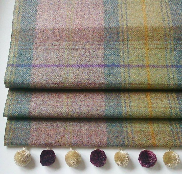 Heather Tweed Roman Blind from notonthehighstreet.com