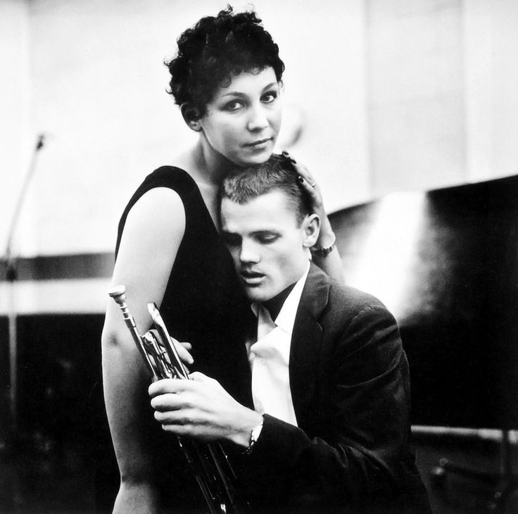 Chet Baker and his wife Halima, 1955, photo by William Claxton