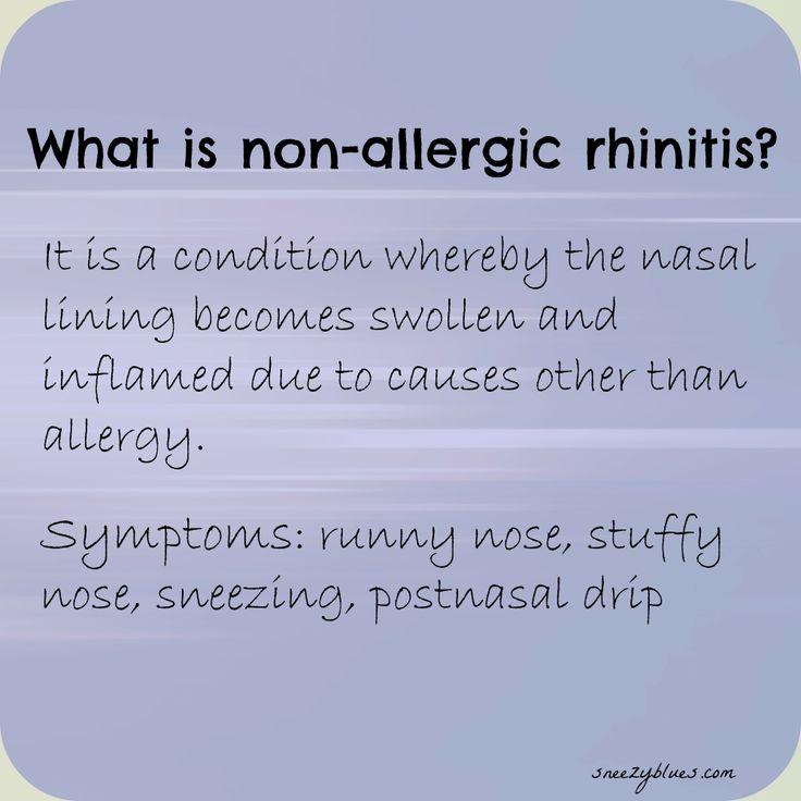 What is non-allergic rhinitis
