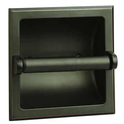Design House Millbridge Recessed Toilet Paper Holder in Oil Rubbed Bronze-539254…